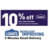 Three 3x Lowes 10% OFF3Coupons-InStore and Online--Fastest Delivery-