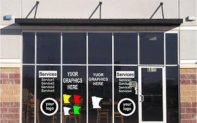 Custom Store Window Decals Business Shop Front Door Signs Sticker Lettering