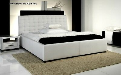Designer letto in pelle nero / Bianco/Beige/MARRONE IMBOTTITO CONVENIENTE