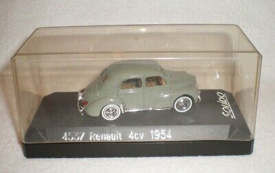 1954 Renault Green Car Auto Model 4CV Saloon Solido 4537 1:43 Scale Box