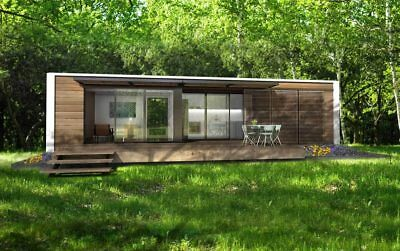 40ft Prefab Luxury Ship Container Home 1 Bd1 Bth Kitchliv 320 Sqft