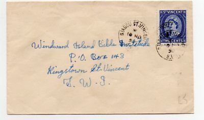 St Vincent 1958 internal cover from Biabou to Kingstown