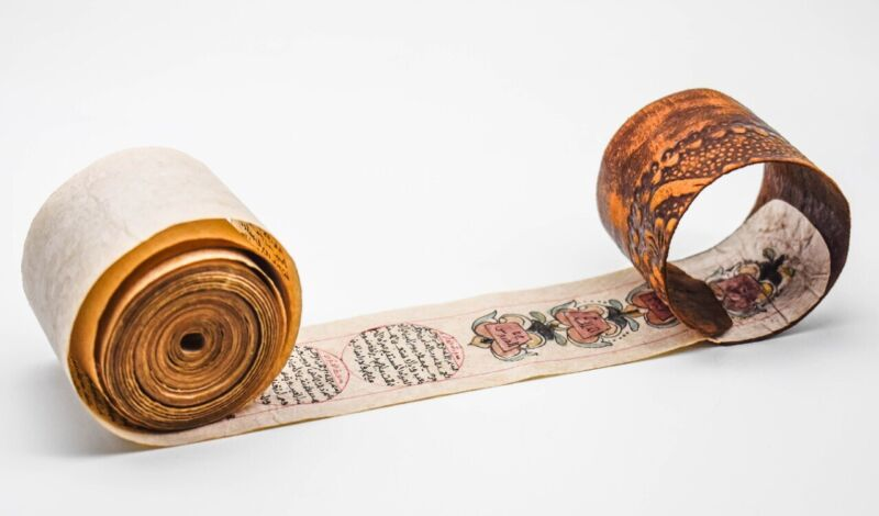 17th Century Holy Quran Roll Hand Written Complete Antique Eastern Islamic Arab