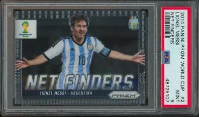 2014 Panini Prizm World Cup Net Finders #2 Lionel Messi Mint PSA 9