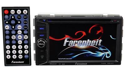 "Farenheit TI-623B Double Din DVD/CD/WMA Player 6.2"" Touchscreen Bluetooth Remote"