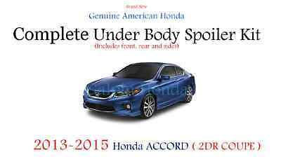 Genuine OEM Honda Accord 2Dr Coupe Complete Under Body Spoiler Kit Still Night