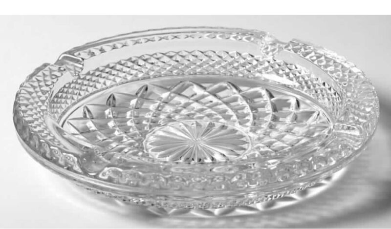 RETIRED Vintage Clear Glass 4 slot Ashtray Large Wexford by Anchor Hocking