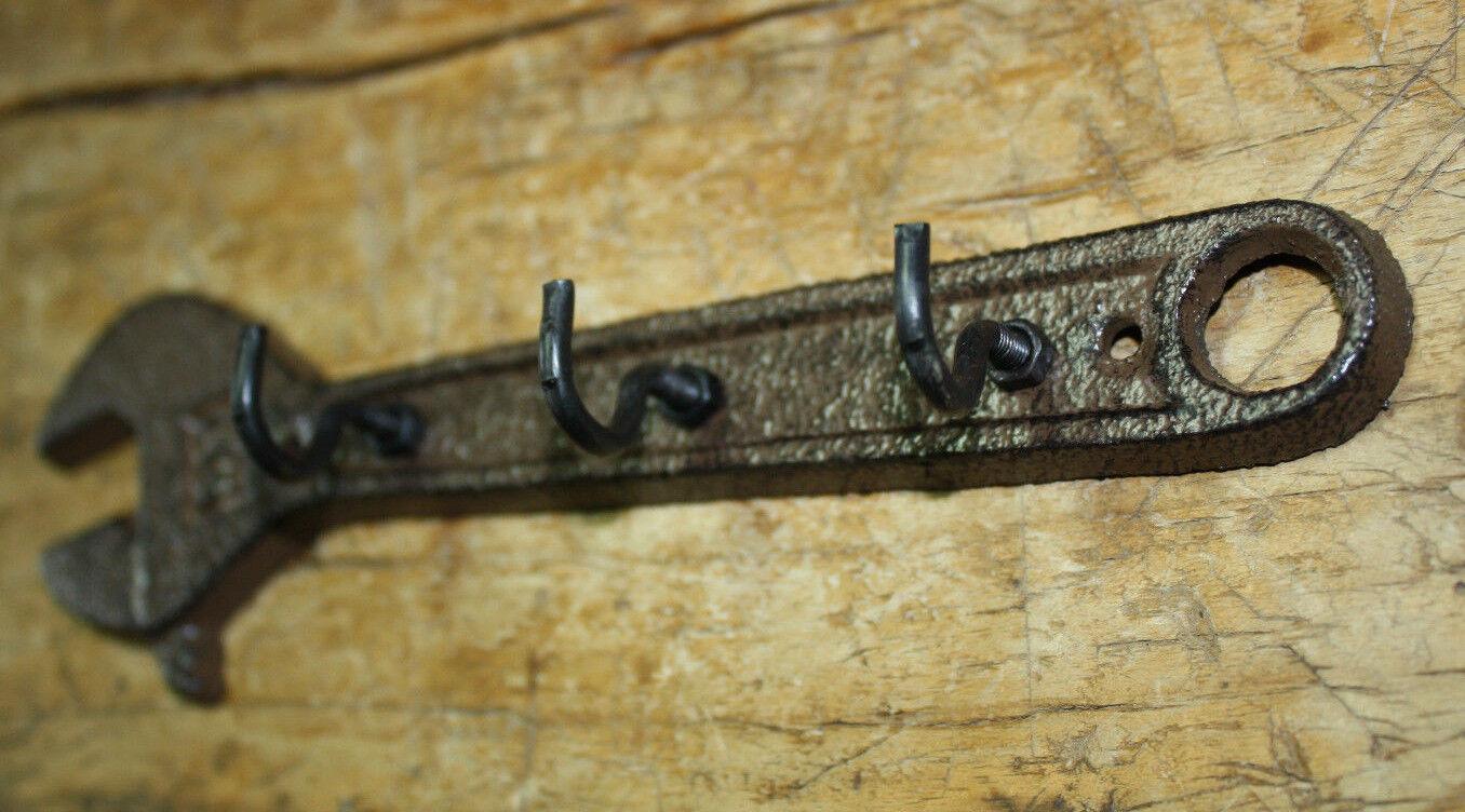 Cast Iron WRENCH Towel, Coat Hooks, Hat Hook, Key Rack Tool Carpenter MAN CAVE
