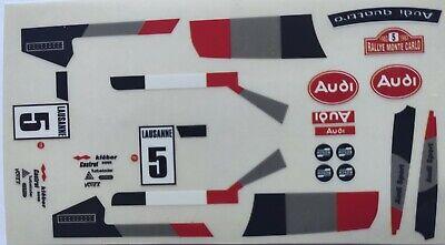 Adhesivo Audi Quattro Lausanne 5 Blanco Exin Scalextric, Triang, barniz original