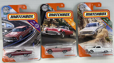 Matchbox-Lot of 3-'75 Chevy Caprice,'57 Ford Thunderbird & '61 Ford Ranchero