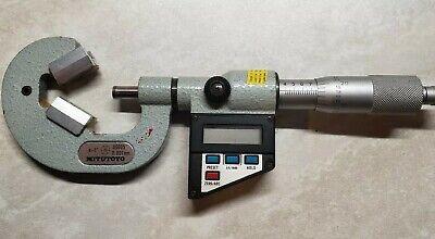 Mitutoyo 314-712-10 V-anvil Micrometer .4-1 .00005 Digital