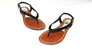 New Women T - Strap Flats Sandals Flip Flops Shoes Size