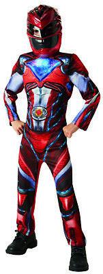 Red Power Ranger 2017 Deluxe Kostüm Kinderkostüm (Red Power Ranger Kinder Kostüm)