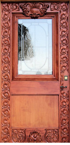 Gorgeous Custom Hand Carved front door.