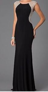 Xscape Black and gold gown Size S