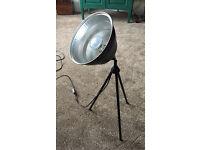Habitat Photographic black metal lamp
