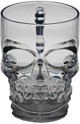Halloween Skull Mug - Skull Drinkware Glasses - Skull Mug - 16 oz Plastic Mug