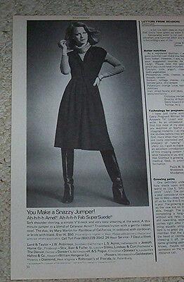 1977 print ad page -SHELLEY HACK- Rainbow of California fashions VINTAGE Advert