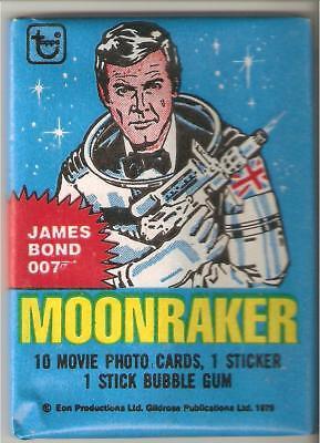 James bond moonraker , trading card pack