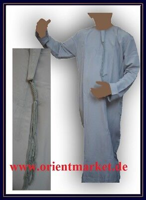 Männerkaftan hellgrau Omani Style Brustweite 67cm leicht & kühl Gr. 60 Islam M18