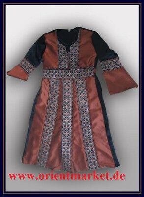 Mädchenkaftan schwarz Kupferbraun Gewand Arabisch Kaftan für Mädchen Islam J20