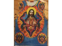 **VERY RARE** JESUS / FRACTAL / - sleeveless vest top. Large. Unisex. No others exist.