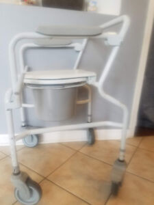 Commode with wheels