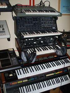 Roland TR-808, SH-101, Sequential Circuits PRO ONE, Moog etc...