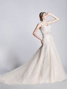 Ophelia Contessa (White on White) Wedding Dress