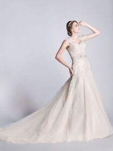 Ophelia Contessa (White on White) Wedding Dress