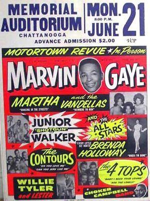 Memories Photo Magnet - MAGNET Concert Handbill Photo Magnet Marvin Gaye Memorial Auditorium Chattanooga
