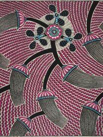 VLISCO Print 2 Yards Affrican Fabric