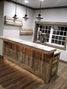 Palletwood accent wood wall barnboard reclaimed wood