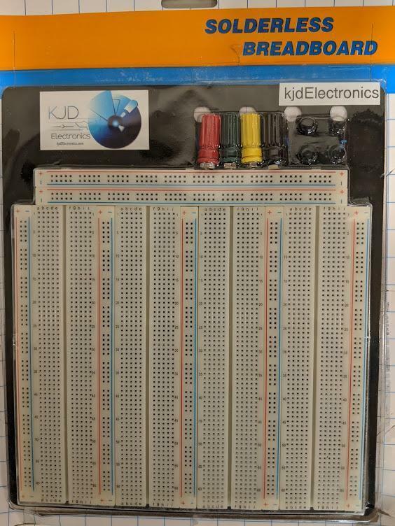 kjdElectronics 3220 Tie-Point Solderless Breadboard Plate ZY-208