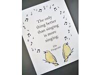 Singing lessons!