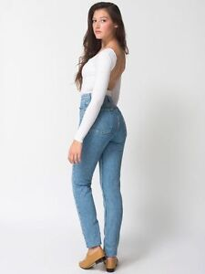 American Apparel High Waisted Jeans for sale!