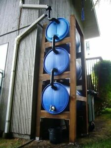 Rain Barrels 55 gallon for collection water.