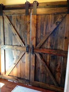 Barn door of your choice and material and sytle Cambridge Kitchener Area image 3