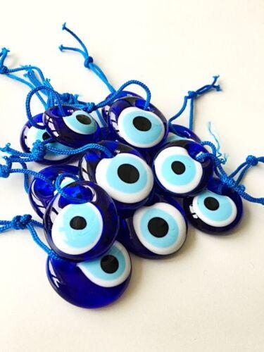 10 Pieces Turkish Greek Evil Eye Nazar Good Luck Charm Amulet 1.5 Inch Wholesale