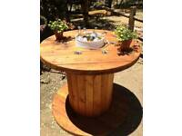 Cable reel drums upcylce tables garden furniture