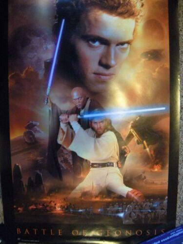 Vintage Star Wars Battle of Geonosis Poster (2002) 22x34 in Anakin Skywalker