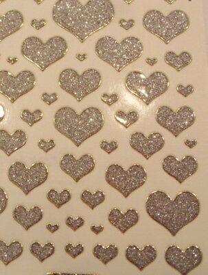 sticker Glittersticker Microglittersticker -  Liebe Hochzeit (Herzen Glitter)