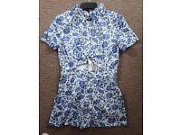 Floral blue playsuit
