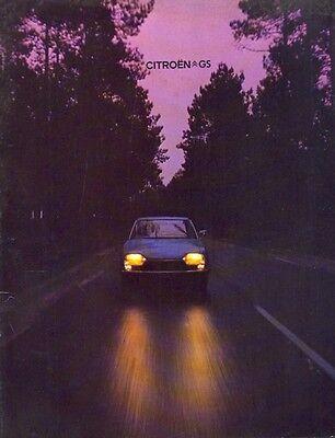 Citroen GS c.1977 Belgian market sales Brochure