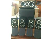 Wharfedale DX-1 HCP 5.1 Surround Sound Speaker System pre-owned.