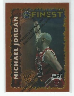 1995-96 Topps Finest Hot Stuff Michael Jordan With Peel # HS 1
