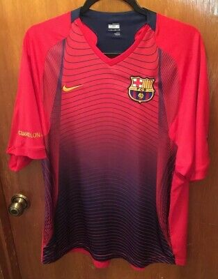5117547268c F.C. Barcelona Nike Fit Dry Red Jersey Size Adult Extra Large
