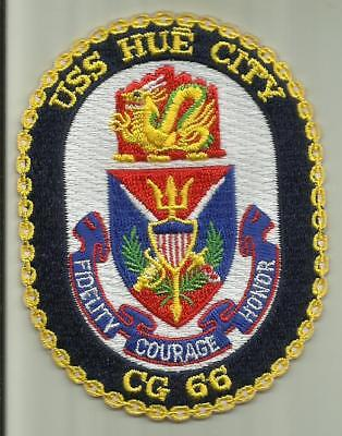USS HUE CITY CG 66 U.S.NAVY PATCH GUIDED MISSILE CRUISER WARSHIP SAILOR BOAT USA