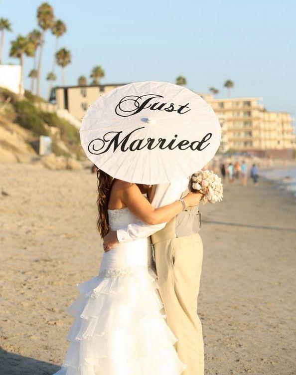 Wedding Bridal Decor Just Married Wedding Sign Ceremony Decoration Photo Prop