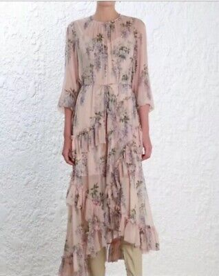 RARE NWT Auth Zimmermann Feathery Folly Dress - Size 1 (US 4 6) - $99](Feathery Dresses)